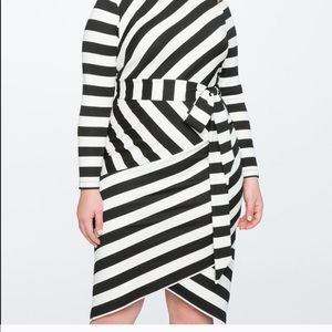 ELOQUII striped bodycon dress NWT